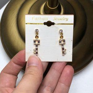 ADD-ONS| Golden CZ Key Drop Fashion Earrings 🔑